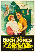 "Movie Posters:Adventure, The Man Who Played Square (Fox, 1924). One Sheet (28"" X 41"").. ..."