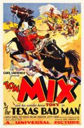 "Movie Posters:Western, The Texas Bad Man (Universal, 1932). One Sheet (27"" X 41"").. ..."
