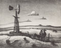 Prints, THOMAS HART BENTON (American, 1889-1975). West Texas, 1952. Lithograph. Image: 10-3/4 x 13-3/4 inches (27.3 x 34.9 cm). ...