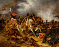 Fine Art - Painting, European, AUGUSTE RAFFET (French, 1804-1860). Napoléon a la Bataille d'Eylau . Oil on canvas. 25-1/2 x 32-1/2 inches (64.8 x 82.6 ...