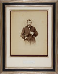 Photography:Studio Portraits, Ulysses S. Grant Signature Framed With an Imperial F. GutekunstAlbumen. ...