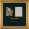 Autographs:Authors, Sir Arthur Conan Doyle Autograph Letter Signed. ...