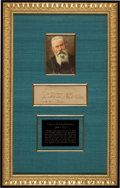 Autographs:Artists, Nikolai Rimsky-Korsakov Autograph Note Signed. ...