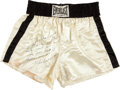 Boxing Collectibles:Memorabilia, 1978 Muhammad Ali Trunks Worn in Training For Second Spinks Bout....