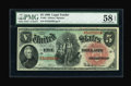 Large Size:Legal Tender Notes, Fr. 64 $5 1869 Legal Tender PMG Choice About Unc 58 EPQ....