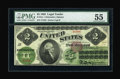 Large Size:Legal Tender Notes, Fr. 41a $2 1862 Legal Tender PMG About Uncirculated 55....