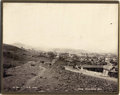 Photography:Cabinet Photos, DRAMATIC LONG SHOT OF SILVER CITY, N.M. Founded in 1870, shortly after the discovery of massive silver ore deposits in the a... (Total: 1 Item)