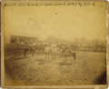 "Photography:Cabinet Photos, LARGE SEPIA IMAGE OF EARLY DAKOTA CATTLE RANCHERS. Impressive 9½"" x7½"" photograph of a ""Small Cow Ranch 10 Miles from Rapid... (Total:1 Item)"