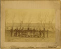 Photography:Cabinet Photos, RARE IMAGE OF 6TH CAVALRY AT FORT STANTON, NEW MEXICO TERRITORY. The 6th Cavalry was heavily involved in the Indian Wars, th...