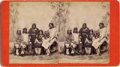 Photography:Stereo Cards, BEN WITTICK STEREOVIEW OF LAGUNA PUEBLO INDIANS. Dating from 1884, this Wittick image features five individuals from various... (Total: 1 Item)