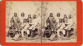Photography:Stereo Cards, LAGUNA PUEBLO INDIAN STEREOCARD BY BEN WITTICK. Seven Laguna Pueblo Indians from different bands of the Southwest tribe are ... (Total: 1 Item)
