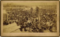 Photography:Cabinet Photos, EXTREMELY RARE IMAGE OF GUTHRIE, OKLAHOMA TERRITORY FOUR WEEKS AFTER THE OKLAHOMA LAND RUSH. On April 22, 1889, the federal... (Total: 1 Item)