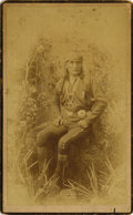 Photography:Cabinet Photos, WITTICK BOUDOIR IMAGE OF ZUNI GOVERNOR PALI-WAH-TI-WAH. Wonderfulportrait of an important Zuni leader, wearing his finest c...(Total: 1 Item)