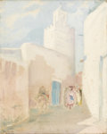 Fine Art - Painting, American:Modern  (1900 1949)  , JULIUS ROLSHOVEN (American, 1858-1930). Mosque at Kairouan.Oil on canvas. 19-1/2in. x 15-1/2in.. Signed at lower left ...(Total: 1 Item)