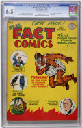 Golden Age (1938-1955):Non-Fiction, Real Fact Comics #1 (DC, 1946) CGC FN+ 6.5 Cream to off-whitepages....