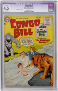 Golden Age (1938-1955):Miscellaneous, Congo Bill #7 (DC, 1955) CGC Apparent VG+ 4.5 Slight (P) Cream to off-white pages....