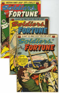 "Golden Age (1938-1955):War, Soldiers of Fortune #1, 2, and 7 Group - Davis Crippen (""D"" Copy)pedigree (ACG, 1951-52) .... (Total: 3 Comic Books)"