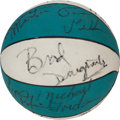 Basketball Collectibles:Balls, 1982-83 University of North Carolina Tarheels Team SignedBasketball with Jordan....