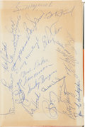 Autographs:Others, 1960 Pittsburgh Pirates Team Signed Book....