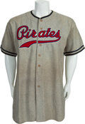 Baseball Collectibles:Uniforms, 1938 Ray Berres Game Worn Pittsburgh Pirates Jersey....