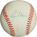 Autographs:Baseballs, Circa 1961 Roger Maris Single Signed Baseball....