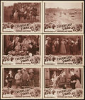 "Movie Posters:Adventure, Custer's Last Stand (Stage and Screen Productions, 1936). LobbyCards (6) (11"" X 14"") Chapter 12 -- ""Firing Squad."" Advent...(Total: 6 Items)"