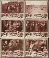 """Custer's Last Stand (Stage and Screen Productions, 1936). Lobby Cards (6) (11"""" X 14"""") Chapter 12 -- """"Firi..."""