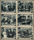 "Movie Posters:Serial, The Black Coin (Stage and Screen Productions, 1936). Lobby Cards (6) (11"" X 14"") Chapter 15 -- ""The Phantom Treasure."" Seria... (Total: 6 Items)"