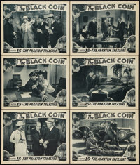 "The Black Coin (Stage and Screen Productions, 1936). Lobby Cards (6) (11"" X 14"") Chapter 15 -- ""The Phant..."