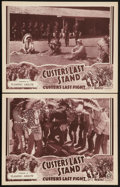 """Movie Posters:Adventure, Custer's Last Stand (Stage and Screen Productions, 1936). LobbyCards (2) (11"""" X 14"""") Chapter 10 -- """"Flaming Arrow."""" Advent...(Total: 2 Items)"""