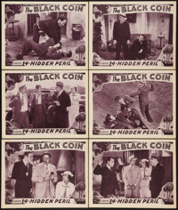 "The Black Coin (Stage and Screen Productions, 1936). Lobby Cards (6) (11"" X 14"") Chapter 14 -- ""Hidden Pe..."