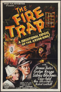 "Movie Posters:Crime, The Fire Trap (Empire, 1935). One Sheet (27"" X 41""). Crime.. ..."