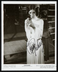 "Movie Posters:Science Fiction, Carrie Fisher in Star Wars (20th Century Fox, 1977). AutographedPhoto (8"" X 10""). Science Fiction.. ..."