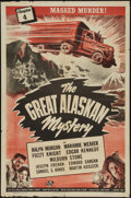 "Movie Posters:Serial, The Great Alaskan Mystery (Universal, 1944). One Sheet (27"" X 41""). Chapter 4 -- ""Masked Murder!"" Serial.. ..."