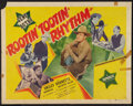 "Movie Posters:Western, Rootin' Tootin' Rhythm (Republic, R-1940s). Half Sheet (22"" X 28""). Western.. ..."