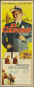 "Movie Posters:Crime, Al Capone (Allied Artists, 1959). Insert (14"" X 36""). Crime.. ..."