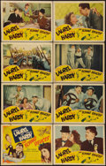 "Movie Posters:Comedy, The Flying Deuces (RKO, 1939). Lobby Card Set of 8 (11"" X 14"").Comedy.. ... (Total: 8 Items)"