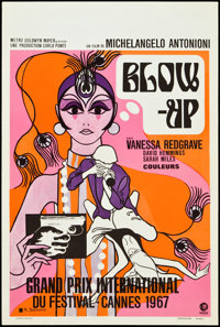 "Blow-Up (MGM, 1967). Belgian (14.25"" X 22.25""). Thriller"