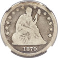 Seated Quarters, 1870-CC 25C VG8 NGC. CAC....