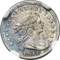 Early Half Dimes, 1803 H10C Large 8 MS61 NGC. V-2, LM-3, R.3....