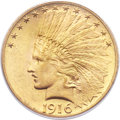 Indian Eagles, 1916-S $10 MS64 PCGS....