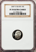 Proof Roosevelt Dimes, 2007-S 10C Silver PR70 Ultra Cameo NGC. NGC Census: (0). PCGSPopulation (397). Numismedia Wsl. Price for problem free NGC...