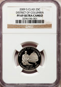 Proof Statehood Quarters, 2009-S 25C District of Columbia Clad PR69 Ultra Cameo NGC. PCGSPopulation (1980/417). Numismedia Wsl. ...