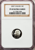 Proof Roosevelt Dimes, 2007-S 10C Silver PR69 Ultra Cameo NGC. PCGS Population (1483/397).Numismedia Wsl. Price for problem f...