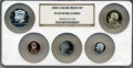 Proof Sets, 2008-S Silver Proof Set PR69 Ultra Cameo NGC. This Set includes: Lincoln Cent, Monticello Nickel, Roosevelt Dime, Kennedy H... (Total: 5 coins)
