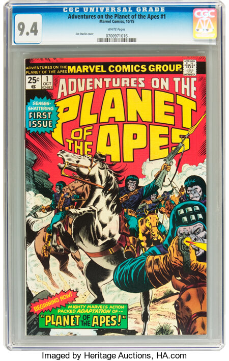Adventures on the Planet of the Apes #1 (Marvel, 1975) CGC NM 9.4 White pages....
