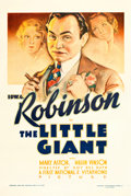 "Movie Posters:Crime, The Little Giant (First National, 1933). One Sheet (27"" X 41"").. ..."