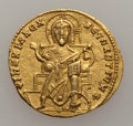 Ancients:Byzantine, Ancients: Constantine VII and Romanus I (920-944). AV solidus (4.15gm). ...