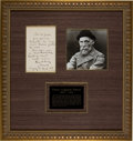 Autographs:Artists, Pierre Auguste Renoir Autograph Letter Signed....
