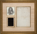 Autographs:Non-American, Louis XIV Manuscript Document Signed. ...